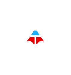 triangle t initial company logo vector image