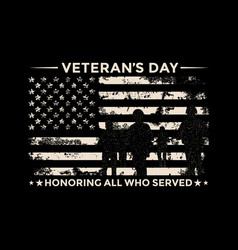 Veterans day - honoring all who served vector