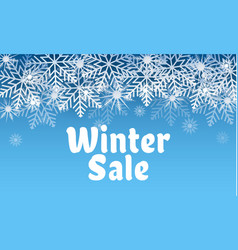 winter sale concept background realistic style vector image