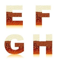 alphabet dark beer efgh vector image vector image