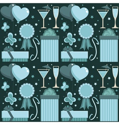 blue party pattern vector image vector image