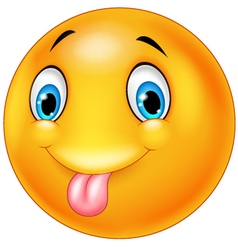 Cartoon silly face with out tongue vector image vector image