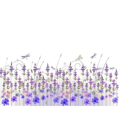 floral background of wildflowers vector image