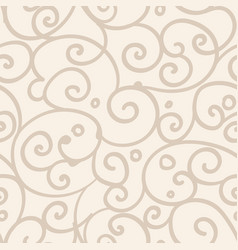 freehand floral motifs seamless pattern vector image vector image