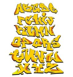 Graffiti alphabet urban font vector image