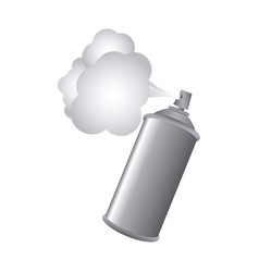 gray aerosol spray metal with smoke paint vector image