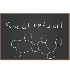 Social network blackboard vector