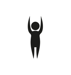yoga pose in simple monochrome style vector image