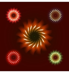 Firework ornament set vector image