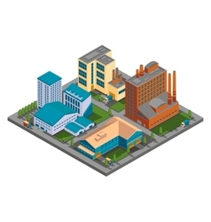isometric factory vector image