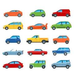 Passenger Car Icons vector image