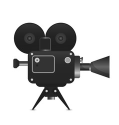 retro movie projector with abstract light rays vector image