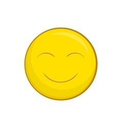 Smiley face icon cartoon style vector image vector image
