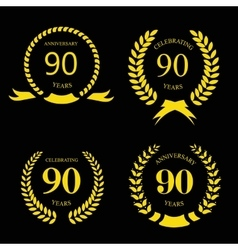 80 ninety years icon Template for celebration and vector image