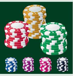 casino chip stacks vector image