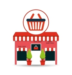cute store shopping basket buy vector image