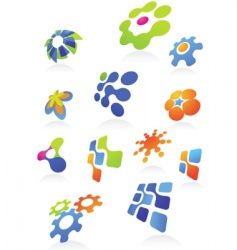 icons and logos vector image