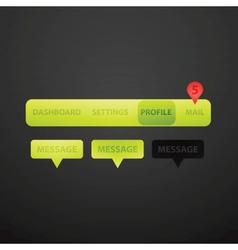 Website navigation collection set vector image vector image
