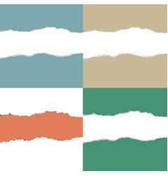 Color torn paper set vector