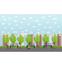 people on bicycle vector image