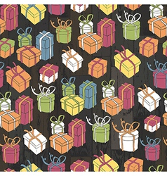 seamless gifts pattern vector image