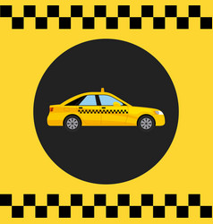 taxi service public transport vector image
