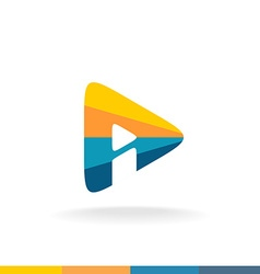 Triangle play button vector image