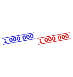 1 000 000 stamp seals with unclean style vector