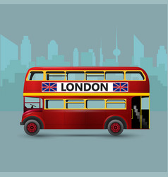 A red london doubledecker bus vector