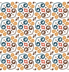 Abstract color seamless hand-drawn pattern vector