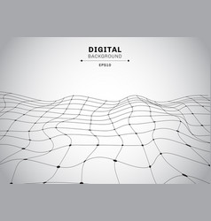 Abstract digital technology black wireframe vector