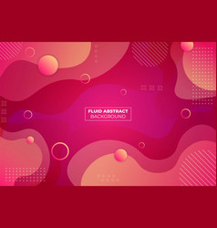 abstract dynamic fluid soft gradient pink and vector image