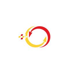 arrow pixel logo vector image