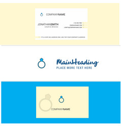 beautiful ring logo and business card vertical vector image