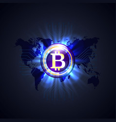 bitcoin network world vector image