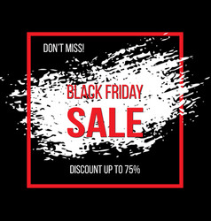 black friday sale banner for advertising vector image