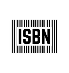 Black isbn sign with barcode vector