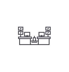 cashier desks line icon sign vector image