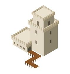 Castle icon isometric style vector