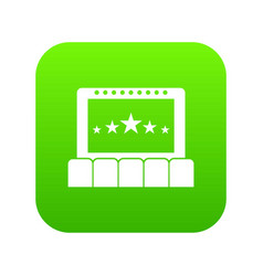 cinema icon digital green vector image