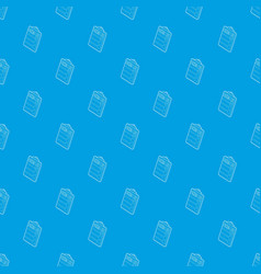 Clipboard with packing list pattern vector
