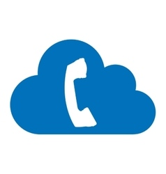 Cloud computing with phone icon vector