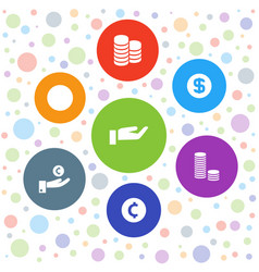 Coins icons vector