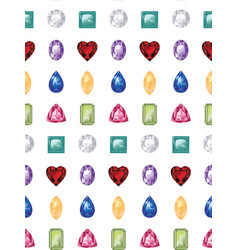 colorful gemstones set vector image
