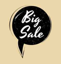 comic speech bubble big sale in pop art style vector image