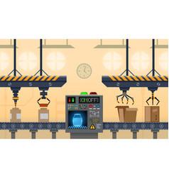 Conveyor factory manufacture belt product line vector