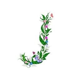 cover letter flower vector image