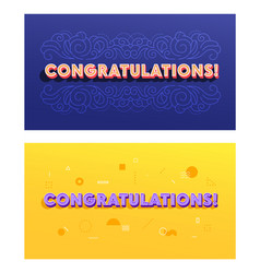 creative banners set with congratulation vector image
