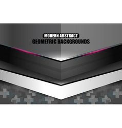 Dark modern geometric abstract background vector