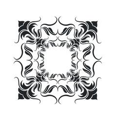 Decorative frame vintage elegant flourish image vector